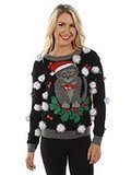 Tipsy Elves Women's Cat Sweater with Bells