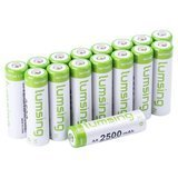Lumsing Rechargeable Batteries with Battery Storage Box, 16 Pack