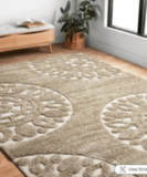 Alexander Home Julian Medallion Shag Rug