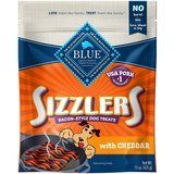 Blue Buffalo Sizzlers Bacon-Style Dog Treats with Cheddar
