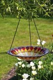 Evergreen Garden Tiffany-Inspired Hanging Birdbath Bowl