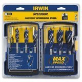 Irwin Tools SPEEDBOR Max Speed Auger Wood Drill Bit Set
