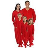 SleepytimePjs Family Matching Red Onesie Footed Pajamas