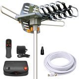 InstallerParts Amplified Outdoor HDTV Antenna, Motorized