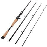 Fiblink 4 Pieces Travel Casting Rod Graphite Baitcasting Fishing Rod
