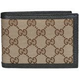 Gucci Original GG Canvas Leather Men's Bifold Wallet
