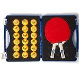 JOOLA Competition Table Tennis Tour Case with 2 Python Rackets