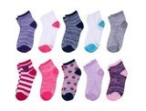 Hanes Girls' Ankle EZ Sort Socks