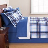 Mainstays Blue Plaid Bed