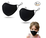 Purian Kids' Face Mask with Adjustable Ear Straps. 2-Pack
