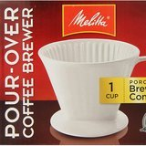 Melitta Pour-Over Porcelain Single Cup Serving Coffee Brewer Box