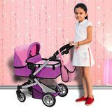 Mommy & Me Doll Collection Swiveling Wheels & Adjustable Handle Stroller