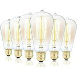 Rolay Dimmable Antique Style Vintage Edison Bulbs (60w 6-pack)