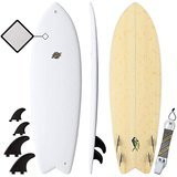 South Bay Board Co. Premium Hybrid Soft Top Surfboards - The 5-foot 8-inch Mahi