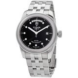Tudor Glamour Day & Date Black Dial Stainless-Steel Men's Watch