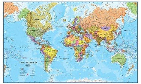 5 best world maps sept 2018 bestreviews giant world megamap 7795 x 4803 publicscrutiny Gallery